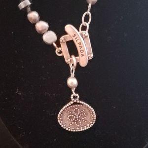 Silpada Sterling  Silver Purple Lavender Necklace